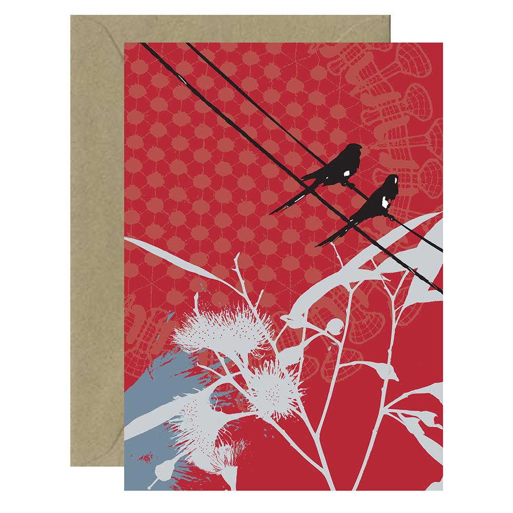 Red Lorikeets Card