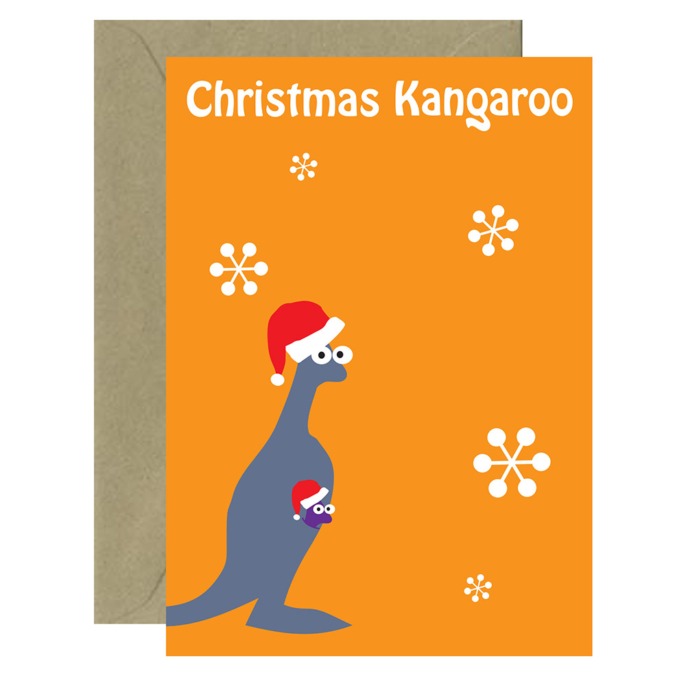 Christmas Aussie Roo Card