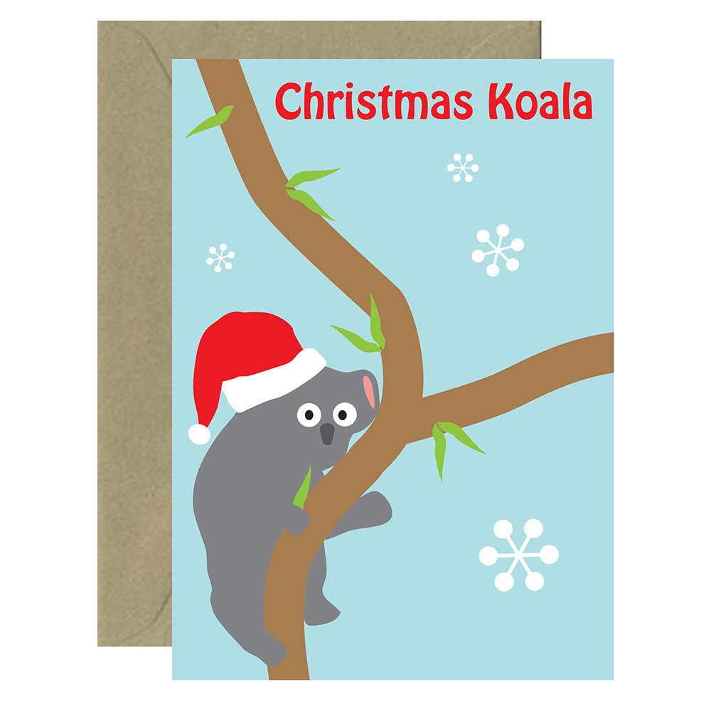 Christmas Aussie Koala Card