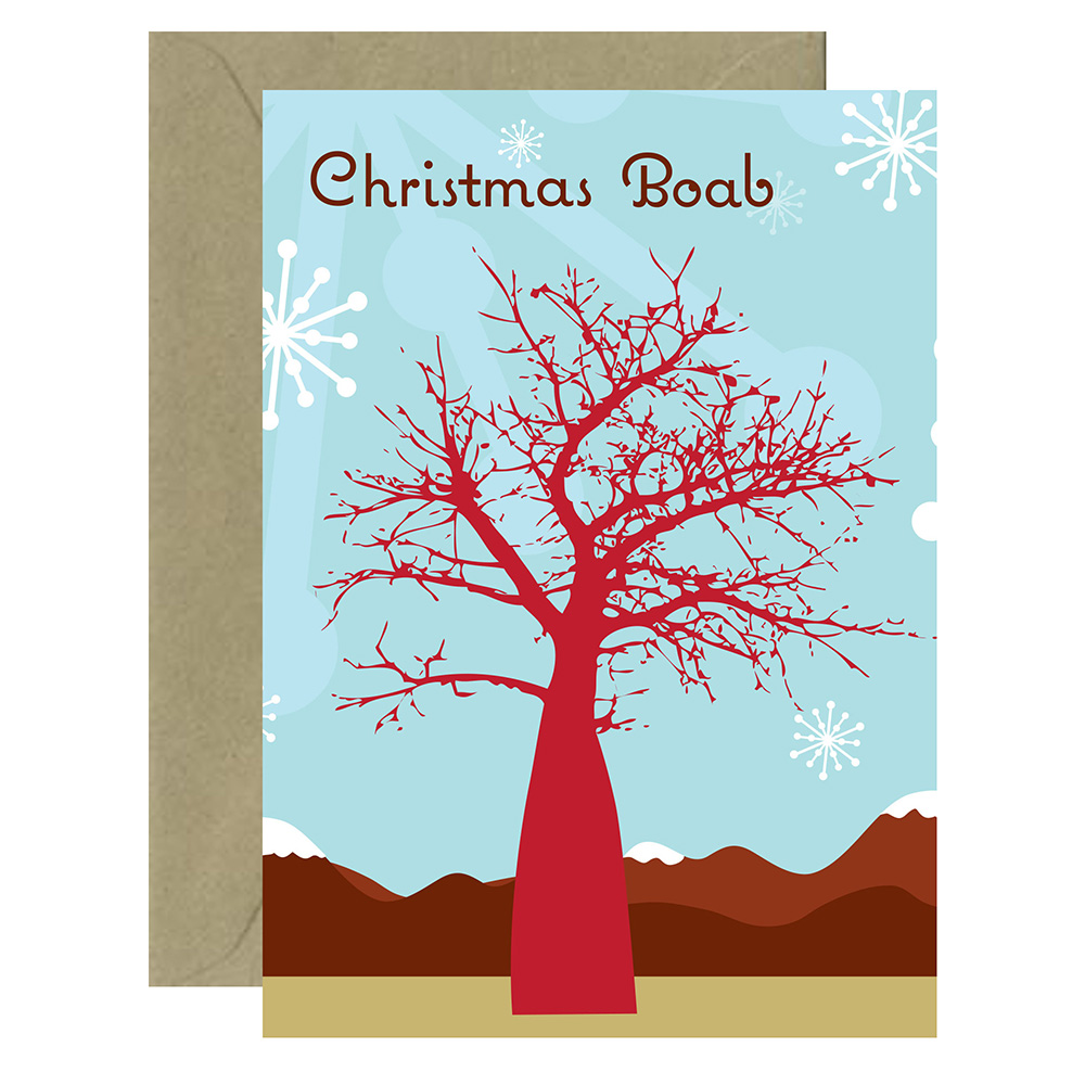 Christmas Tree Boab Card