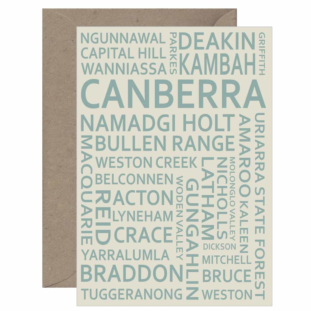 Canberra Text Card