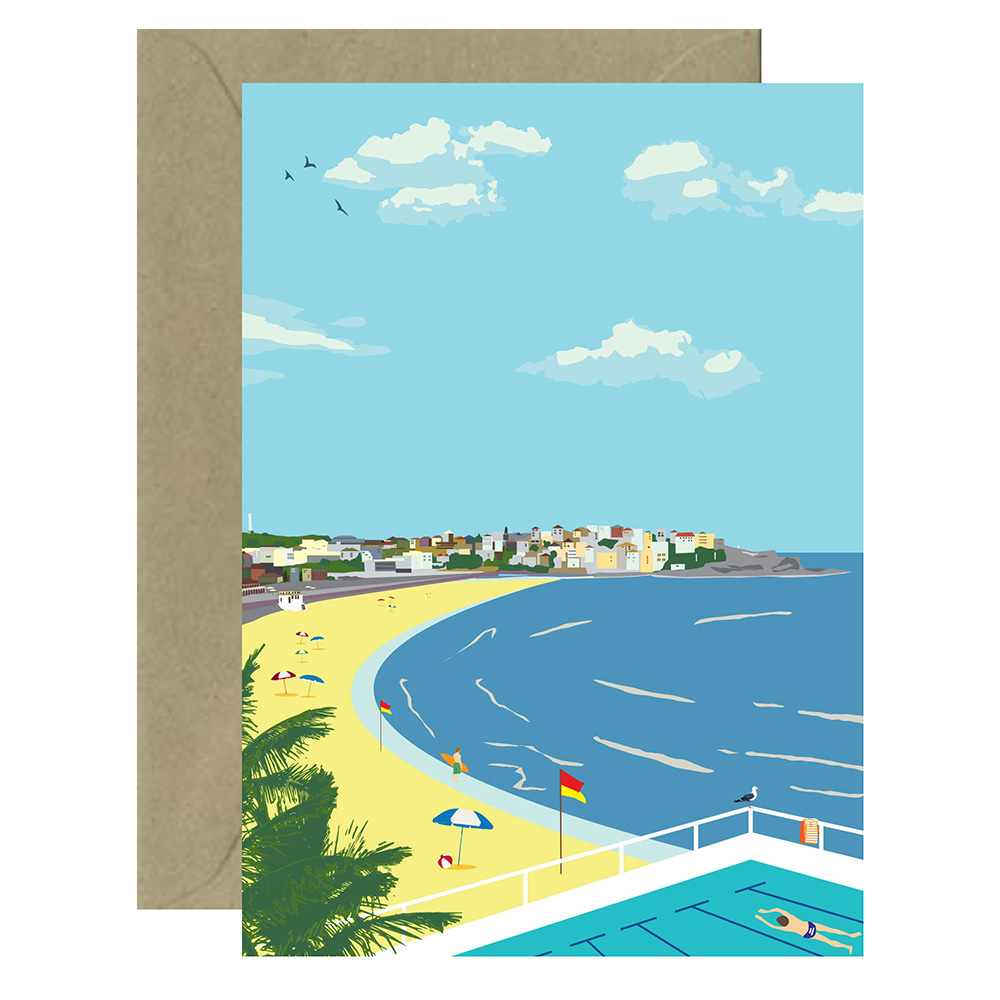Vintage Bondi Beach Card