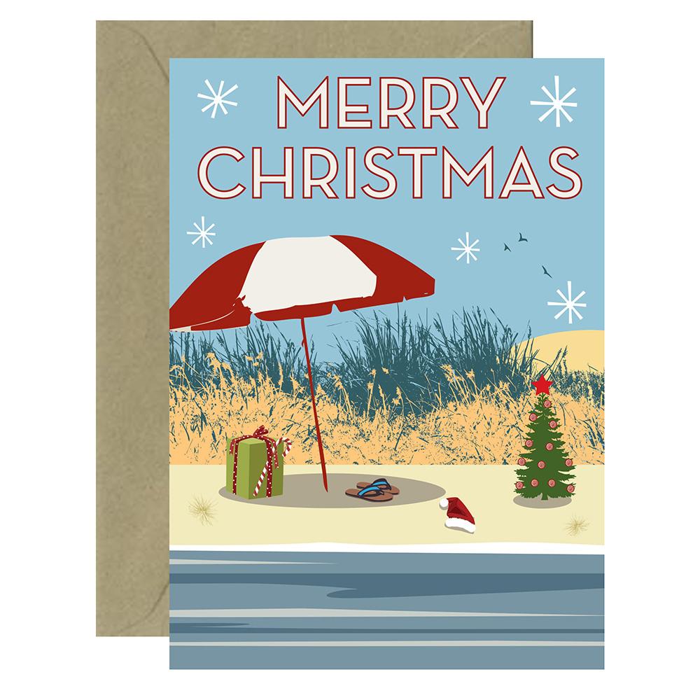 Christmas Beach Card