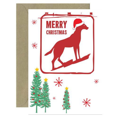 Christmas Dingo Dog Card