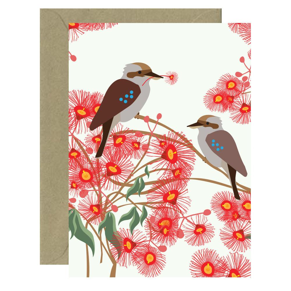 Bloom Kookaburra Card