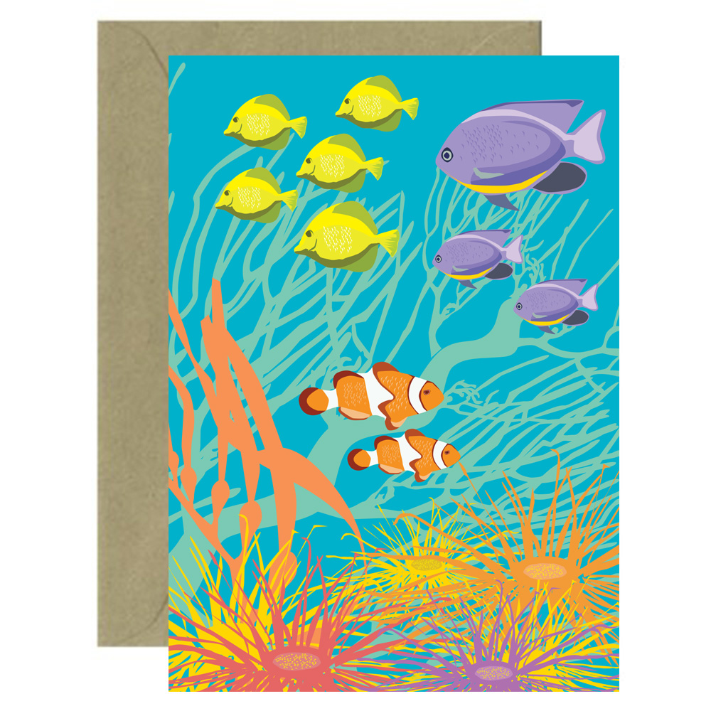 Turquoise Reef Card