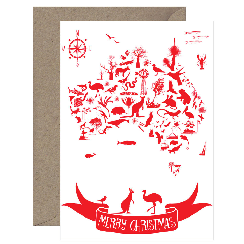 Christmas Map Card