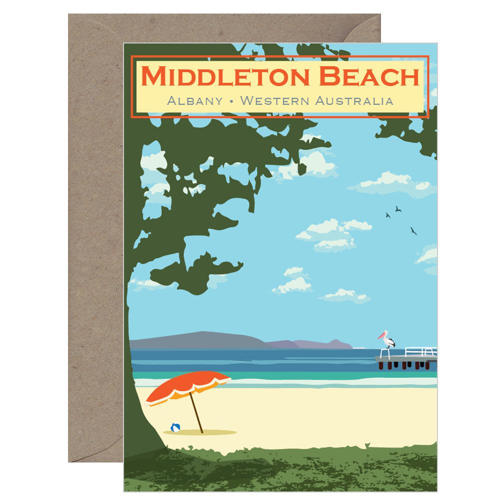 Vintage Middleton Beach Card