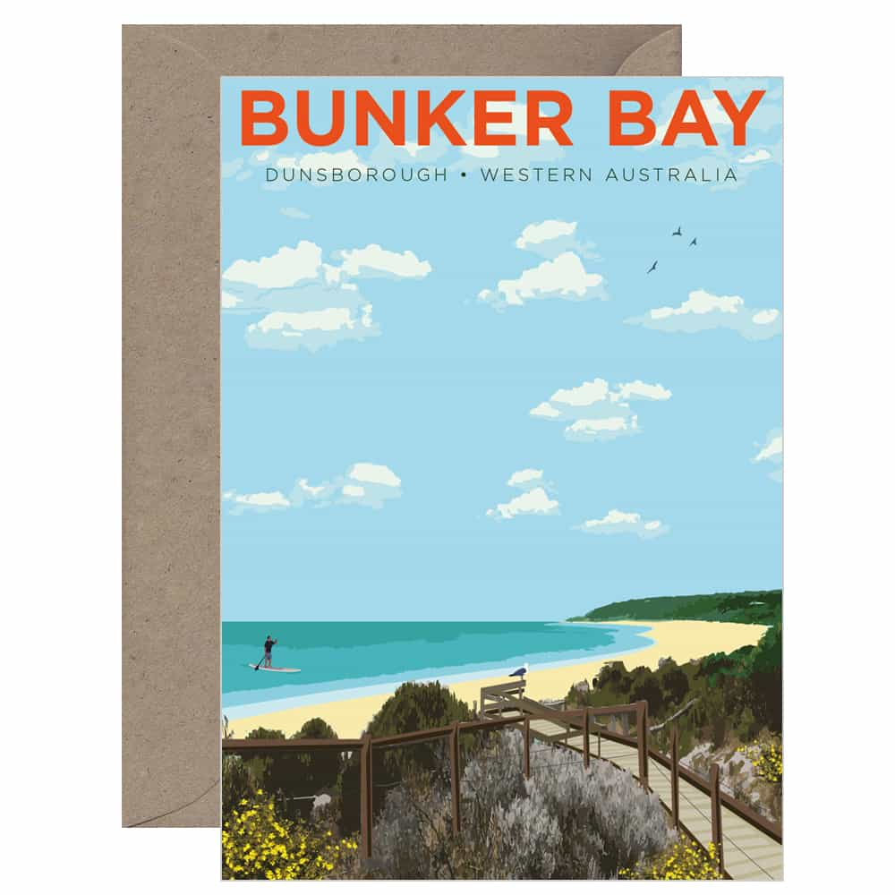 Vintage Bunker Bay Card