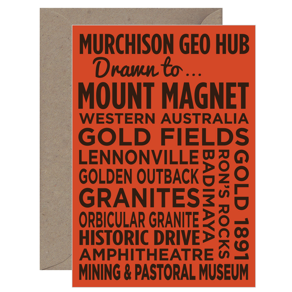 Mount Magnet Text Card