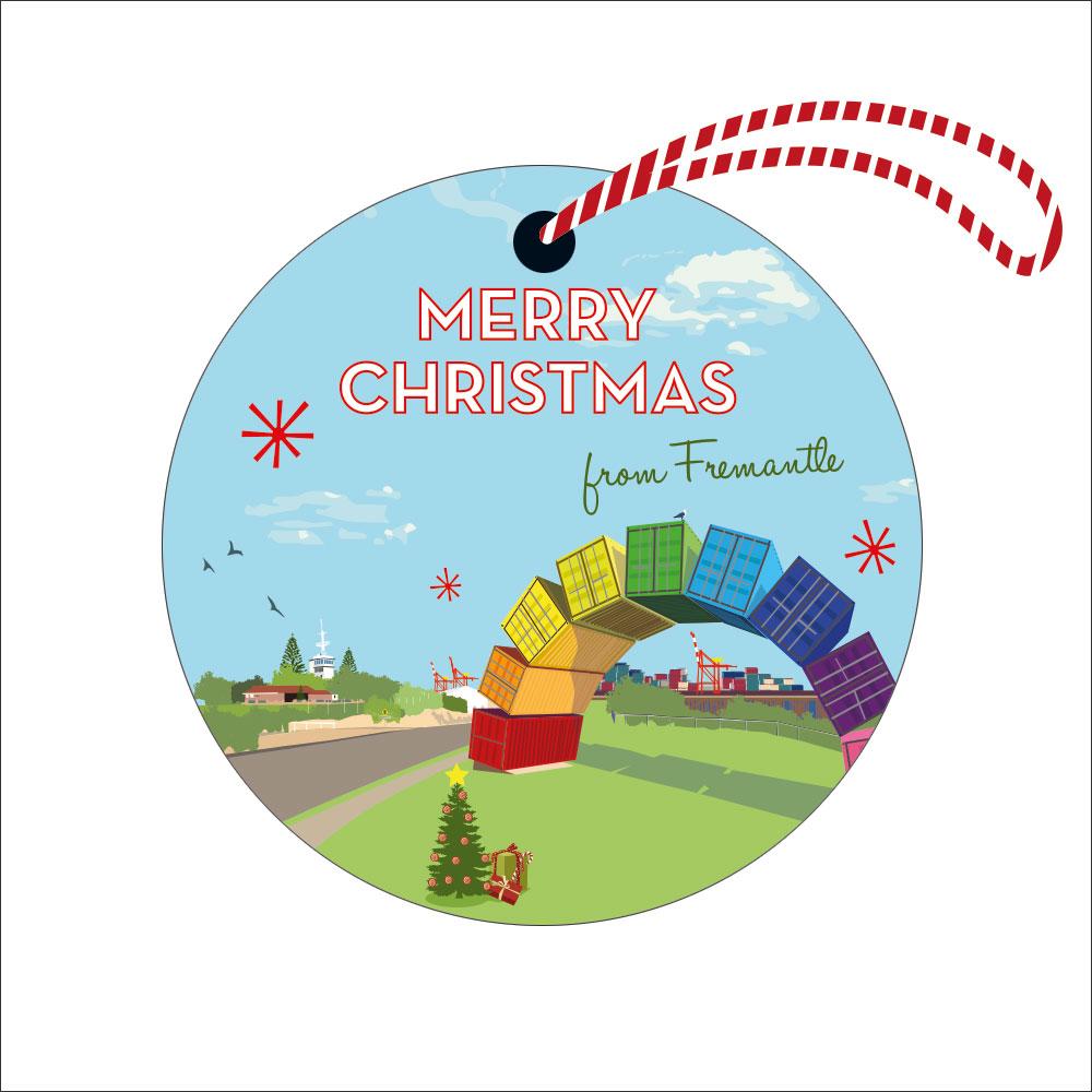 Christmas Fremantle Rainbow Decoration