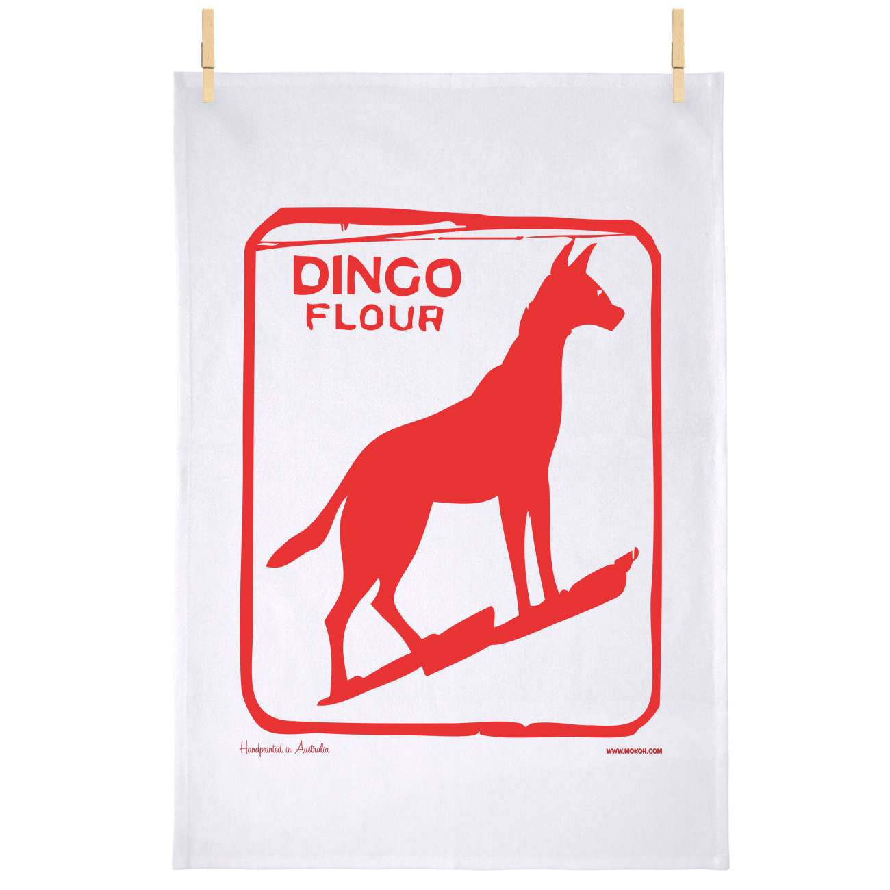 Dingo Dog Teatowel