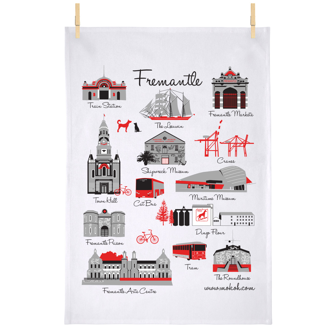 Fremantle Iconic Teatowel