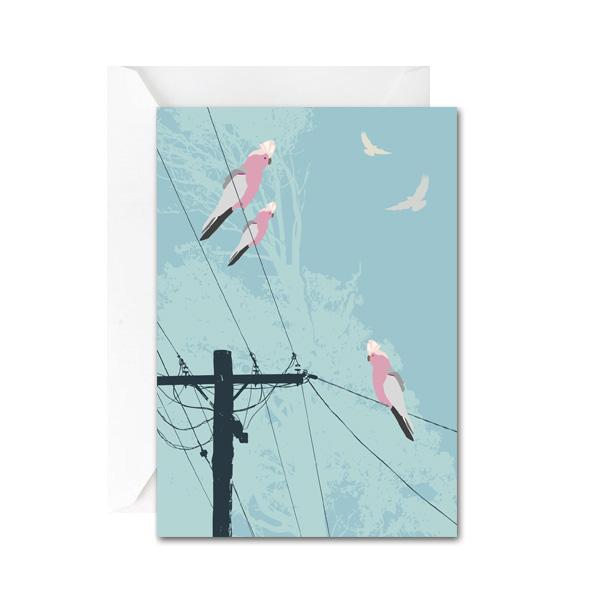 Galahs on the Line Mini Gift Card