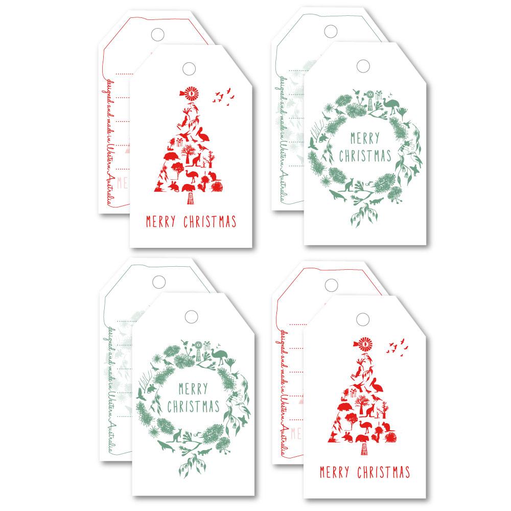 Christmas Tree 8 Tag Pack