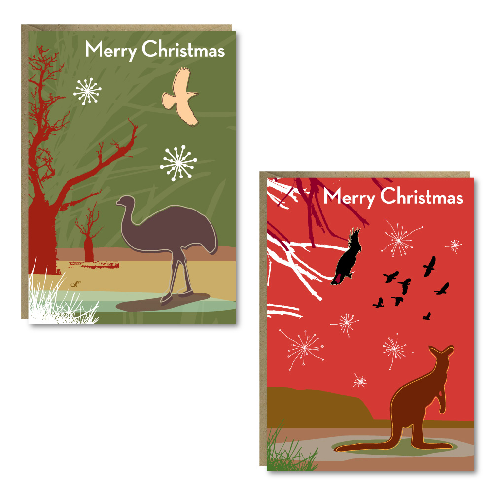 Christmas Outback 8 Card Pack