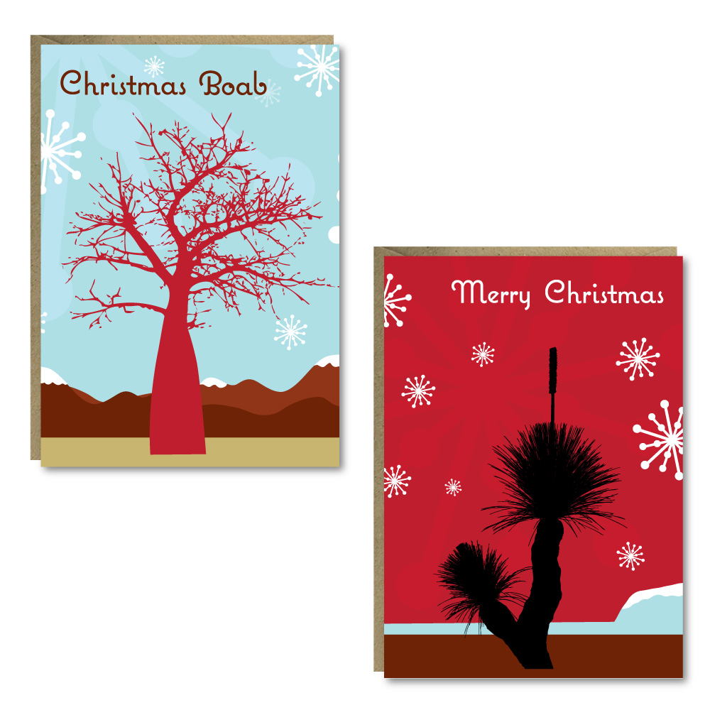 Christmas Trees 8 Card Pack