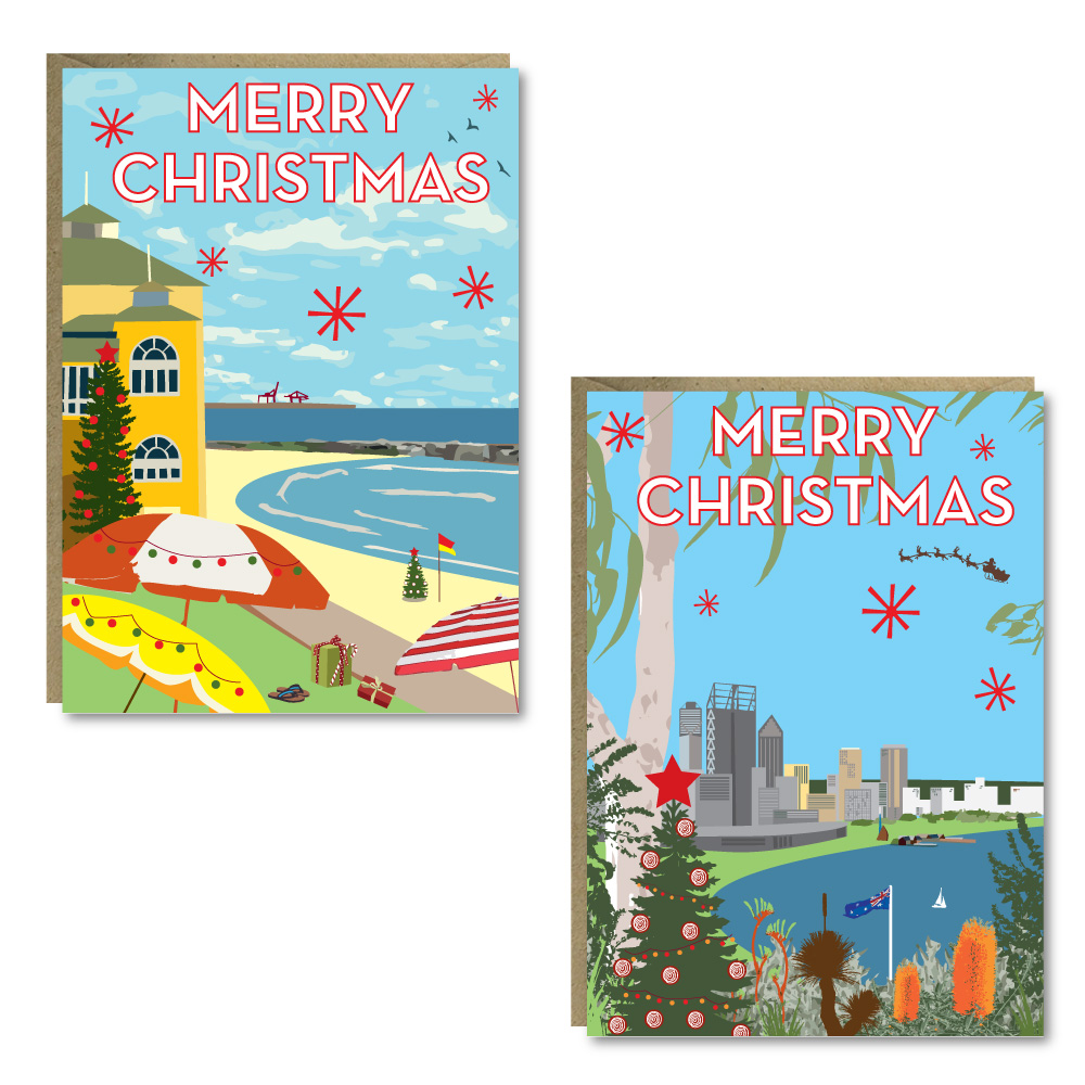 Christmas Perth 8 Card Pack