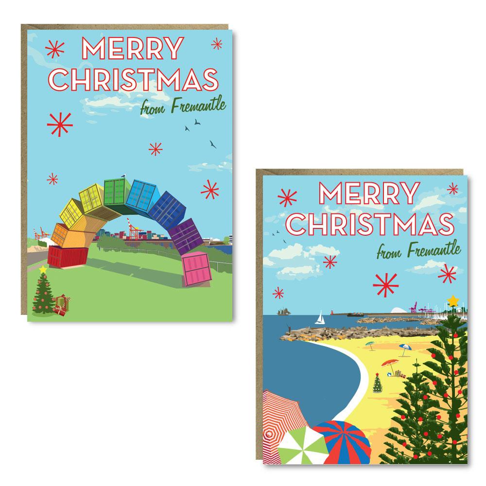 Christmas Rainbow 8 Card Pack
