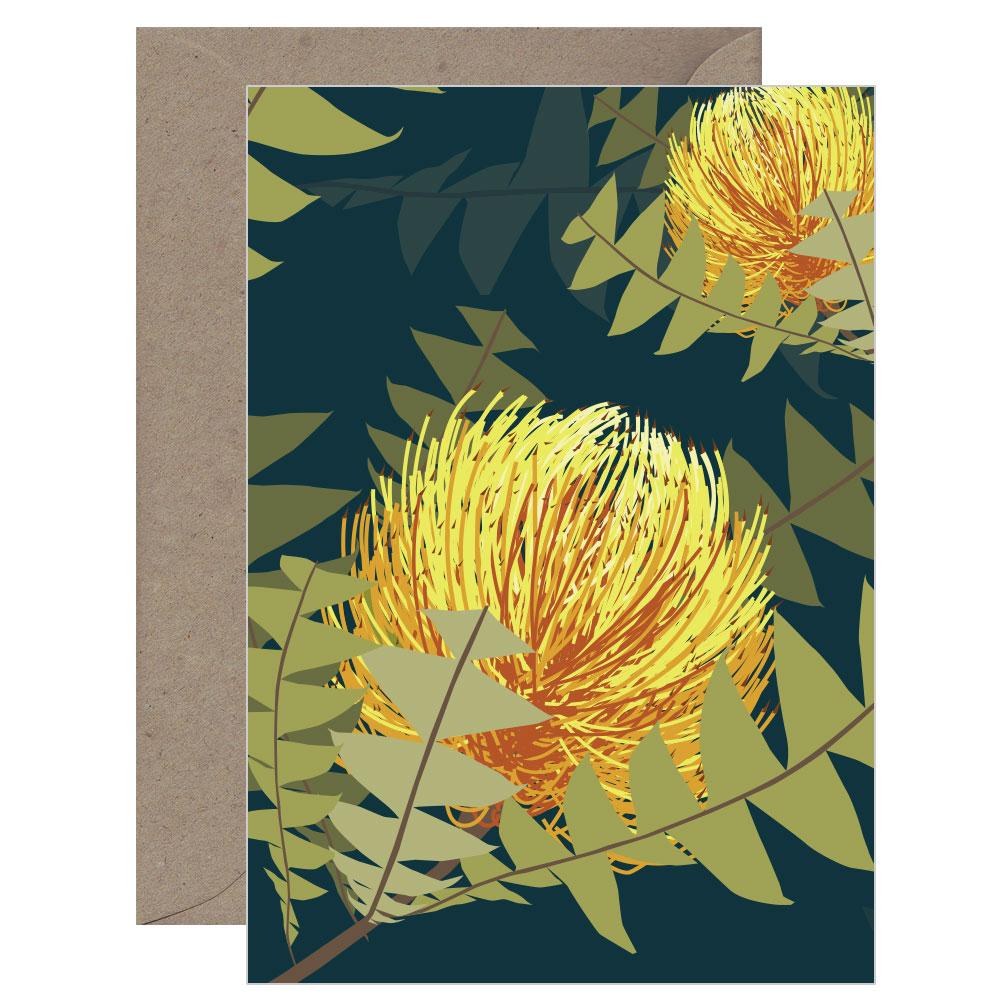 Botanicals Banksia Card