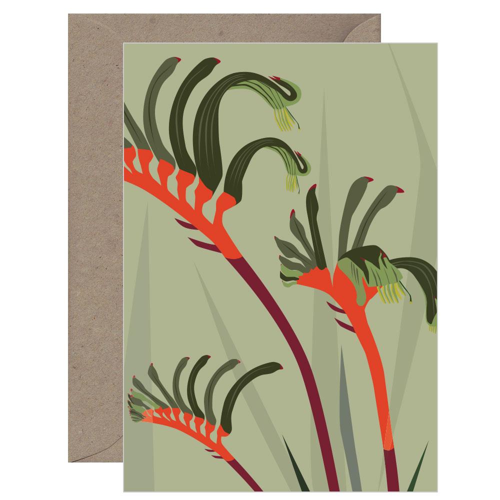 Botanicals Kangaroo Paw Card