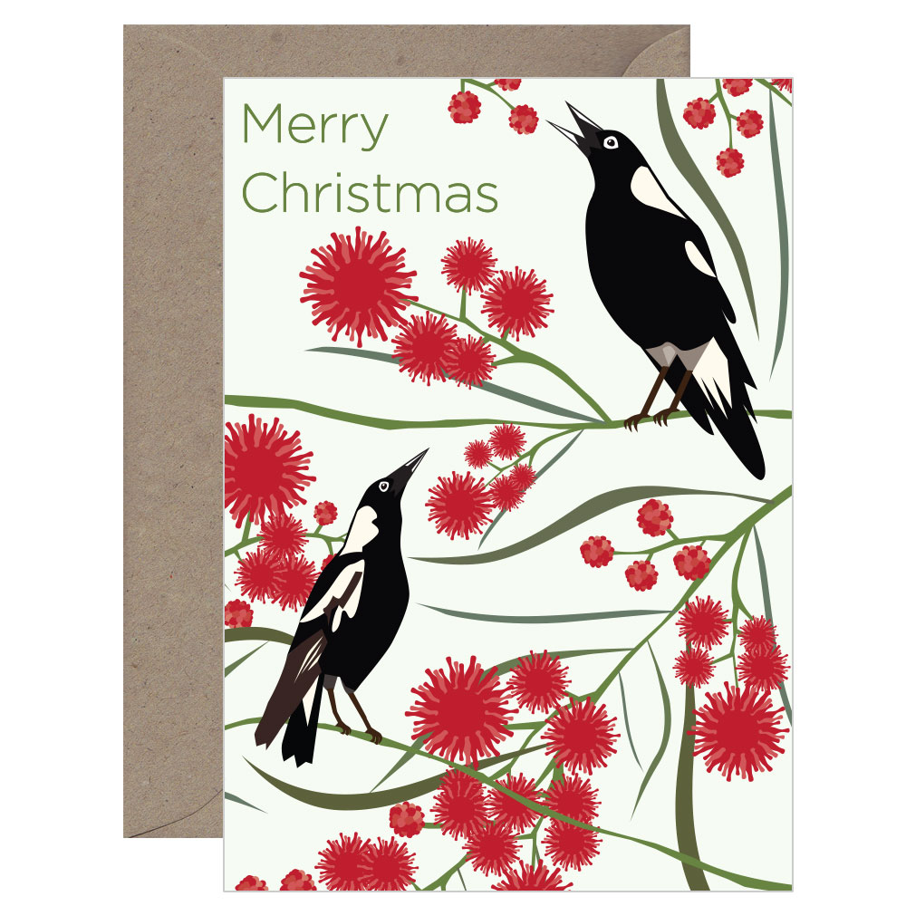 Christmas Magpie Card