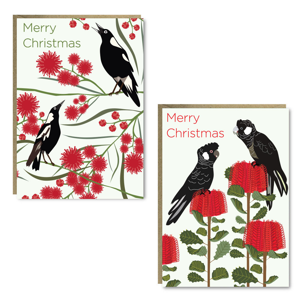 Christmas Carnaby Magpie 8 Card Pack
