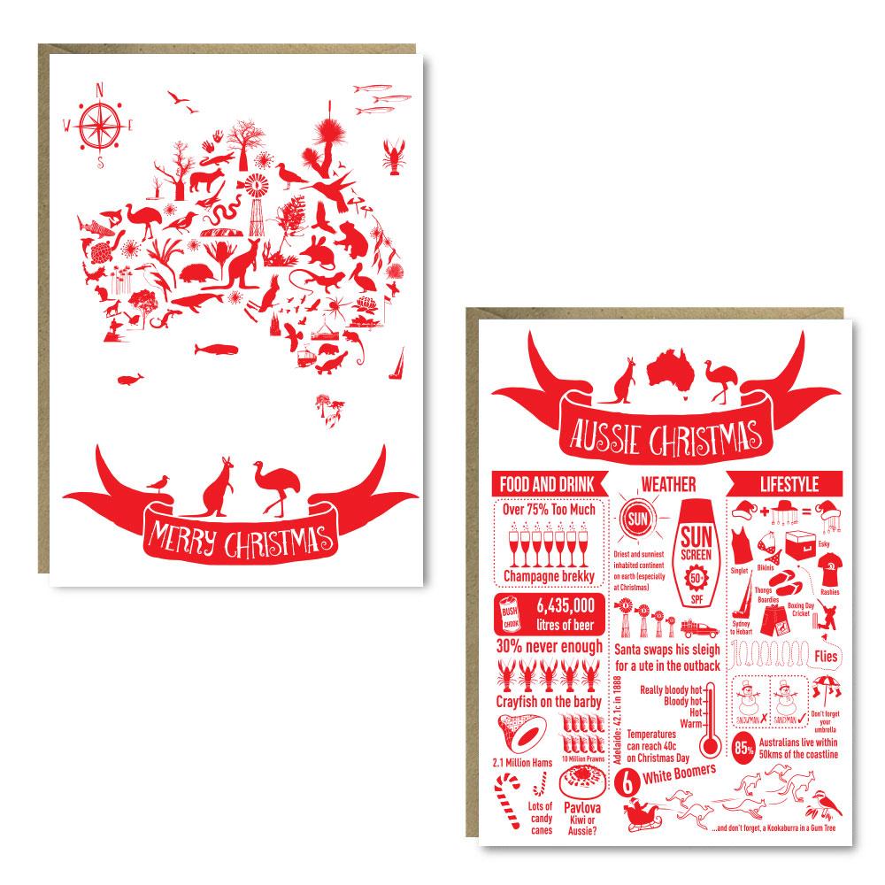 Christmas Aussie 8 Card Pack
